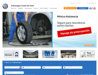 vw-crestadelvalle.mx screenshot