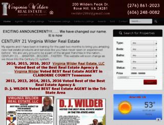 vwilderrealestate.com screenshot
