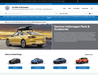 vwkennesawparts.com screenshot
