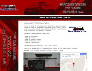 vwtecnimotors.com.ve screenshot