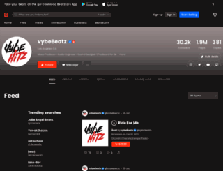 vybebeatz.com screenshot