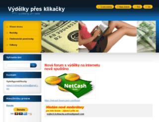 vydelkypresklikacky.webnode.cz screenshot