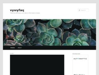 vywyfaq.wordpress.com screenshot