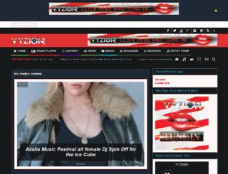 vyzionradio.com screenshot