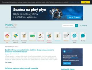 vzory.cz screenshot
