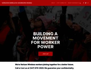 vzwworkersrising.org screenshot