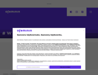 w-spodnicy.ofeminin.pl screenshot