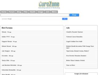 w.curezone.com screenshot