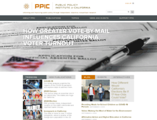 w.ppic.org screenshot