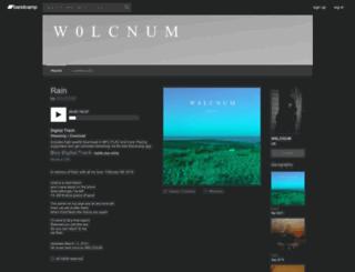 w0lcnum.bandcamp.com screenshot