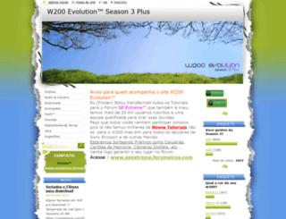 w200evolution.webnode.com screenshot