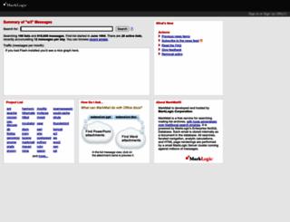 w3.markmail.org screenshot