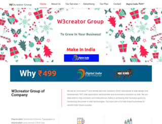w3creator.com screenshot