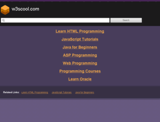 w3scool.com screenshot
