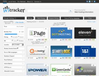 w3tracker.com screenshot