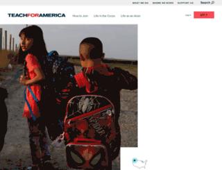 wa.teachforamerica.org screenshot