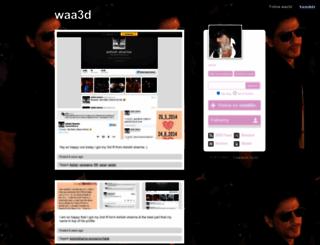 waa3d.tumblr.com screenshot