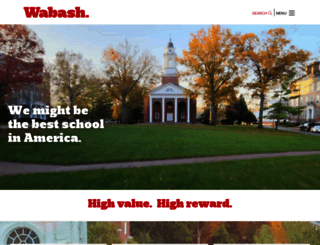wabash.edu screenshot