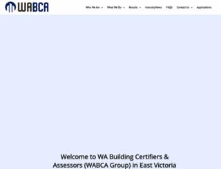 wabca.com.au screenshot
