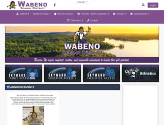 wabeno.k12.wi.us screenshot