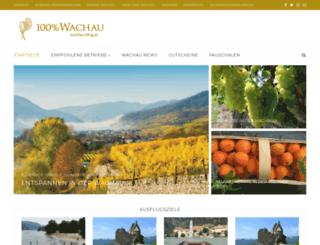 wachau-blog.at screenshot