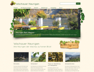 wachau-heurigen.at screenshot