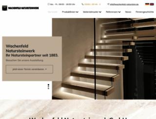 wachenfeld-naturstein.de screenshot