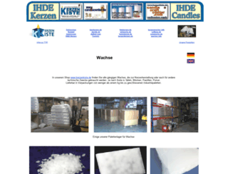 wachse.info screenshot