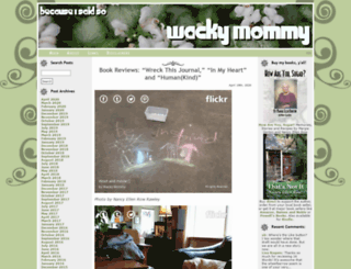 wackymommy.org screenshot