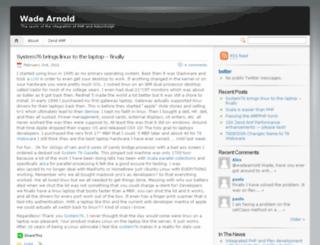 wadearnold.com screenshot