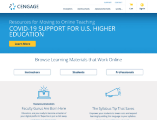 wadsworth.cengage.com screenshot