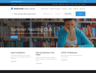 wadsworthlibrary.com screenshot