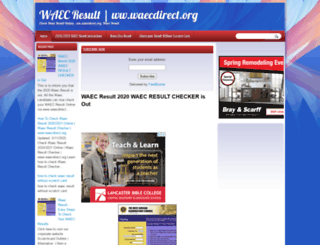 waecdirect-org.blogspot.com.ng screenshot