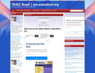 waecdirect-org.blogspot.com screenshot