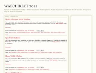 waecdirect.blogspot.com.ng screenshot