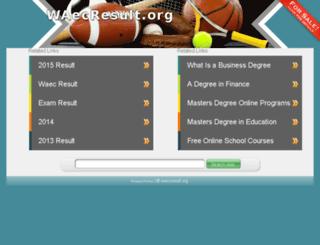 waecresult.org screenshot