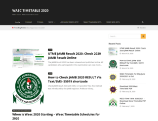 waectimetable.org.ng screenshot