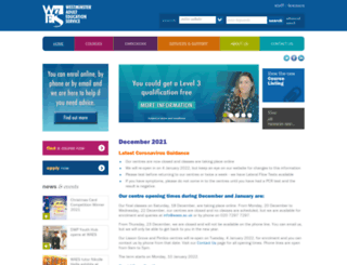 waes.ac.uk screenshot