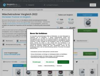 waeschetrockner.vergleich.org screenshot