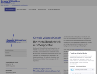 waetzold-metallbau.de screenshot