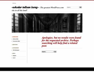 wafagresik.wordpress.com screenshot