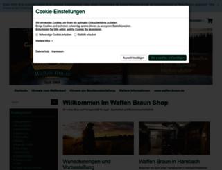 waffen-braun-shop.de screenshot