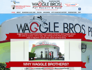 wagglebrospetresort.com screenshot