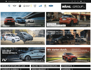 wahl-group.de screenshot