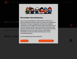 wahl.zdf.de screenshot