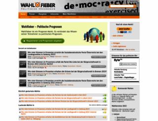 wahlfieber.at screenshot