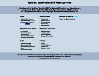 wahlrecht.de screenshot