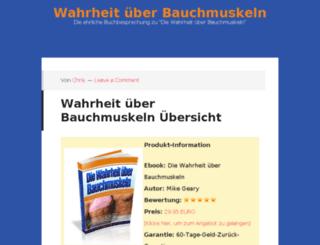 wahrheituberbauchmuskeln.com screenshot