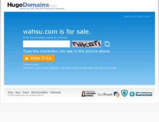wahsu.com screenshot
