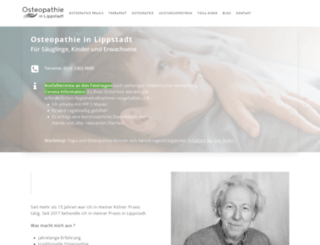 waider-osteopathie.de screenshot